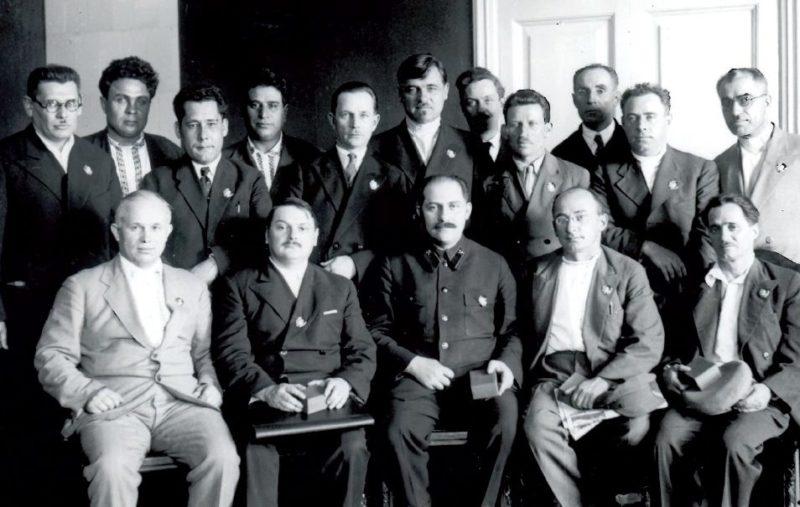 Булганин среди руководителей республик. 1935 г.