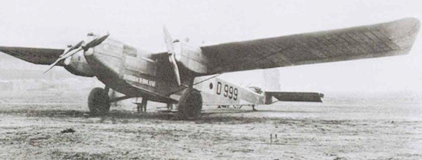 На пассажирском самолете «Rohrbach-VIII», переоборудованном в бомбардировщик, отрабатывались методы бомбометания.