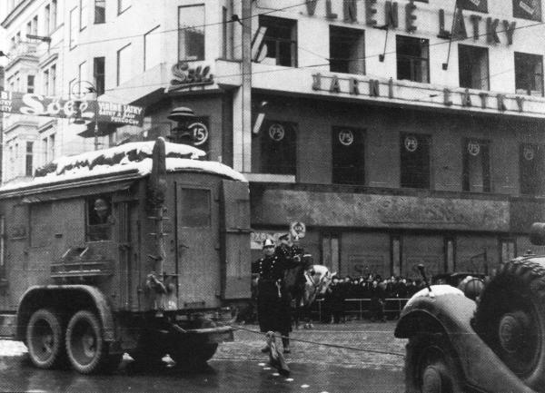 Колонны немецких войск в Чехословакии. 15 марта 1939 г.