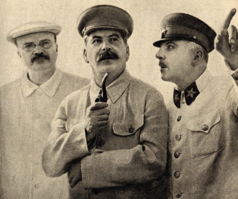 Молотов, Сталин и Ворошилов. 1937 г.