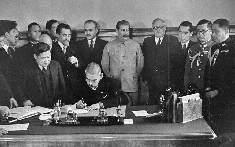 Подписание советско-японского пакта о нейтралитете. 13 апреля 1941 г.