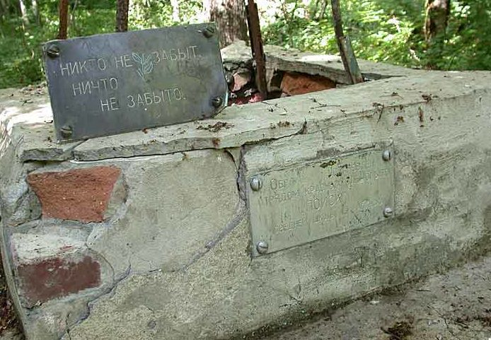 п. Новый Абинского р-на. Братская могила советских воинов в лесу.