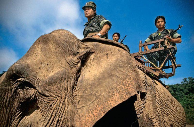 Бирманские повстанцы из Национальной армии освобождения Карен. 12 января 1988 года.