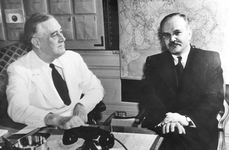 Франклин Рузвельт и Вячеслав Молотов в Белом Доме. Вашингтон, май 1942 г.