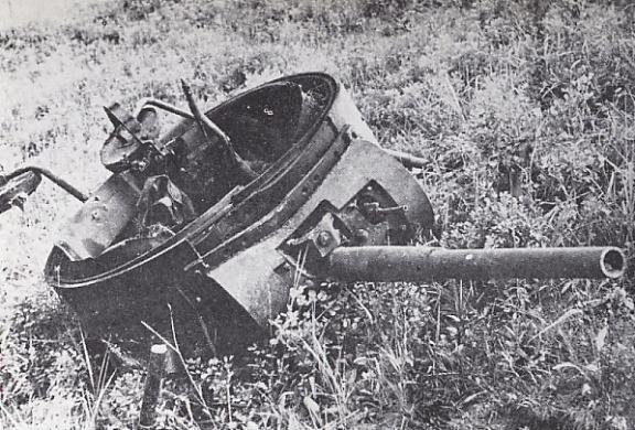 Подбитый советский танк. 1938 г.