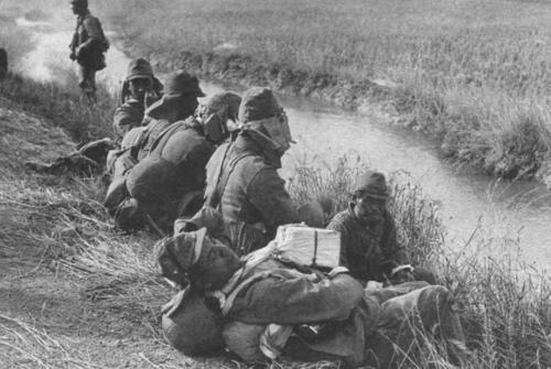 Японские солдаты на привале. 1939 г.