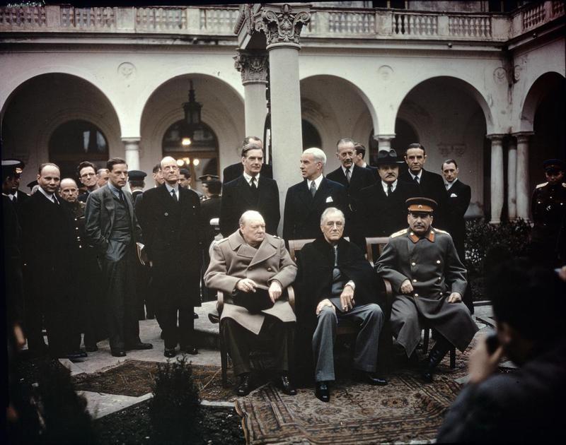 Вячеслав Молотов на Ялтинской конференции. Февраль 1945 г.