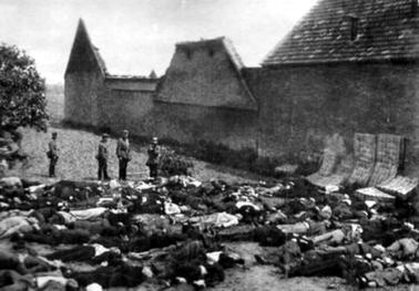 Нацистская резня мирных жителей в Лидице. 10 июня 1942 г.