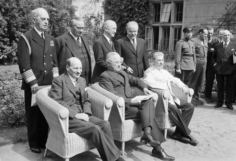 Вячеслав Молотов на Потсдамской конференции. Август 1945 г.