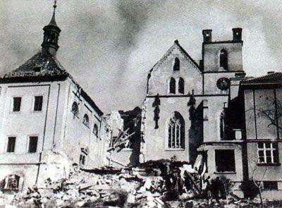 Результаты бомбардировки Праги союзниками. 14 февраля 1945 г.