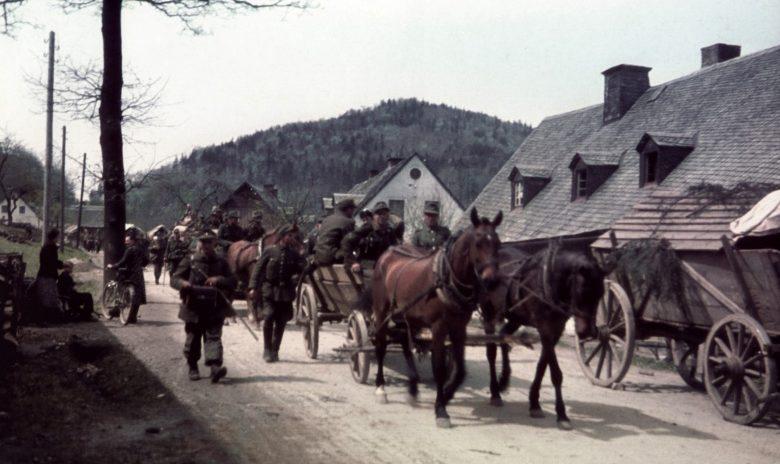 Отступление 6-й пехотной дивизии вермахта в Рудных горах. 8 мая 1945 г.