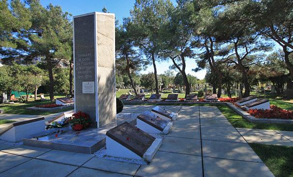 г. Анапа. Мемориальный комплекс на Высоком берегу, установлен на братской могиле воинов и партизан.