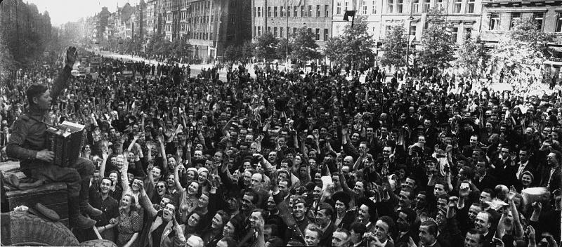 Освобожденная Прага. Май 1945 г.