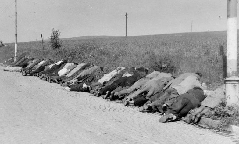 Судетские немцы, расстрелянные чехами. Май 1945 г.