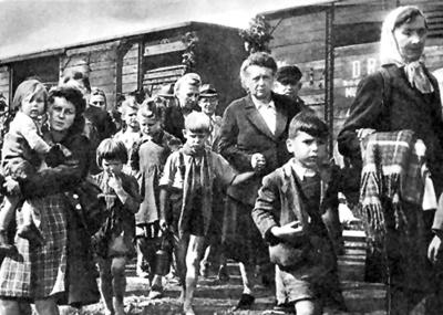 Депортация немцев из Чехословакии сентябрь 1945 г.