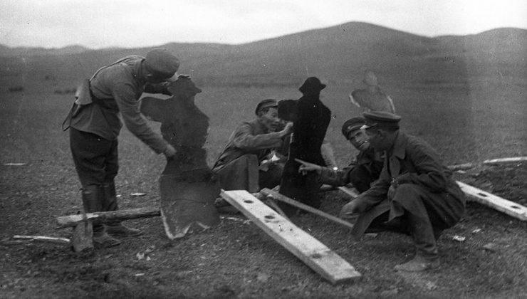 Монгольские офицеры. 1939 г.