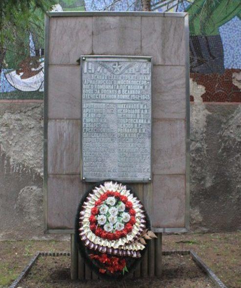г. Армавир. Памятник по улице Лавриненко 1, установленный в 1970 году рабочим АМКК, погибшим в годы войны.