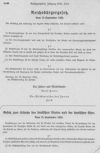 Закон «О гражданстве рейха».