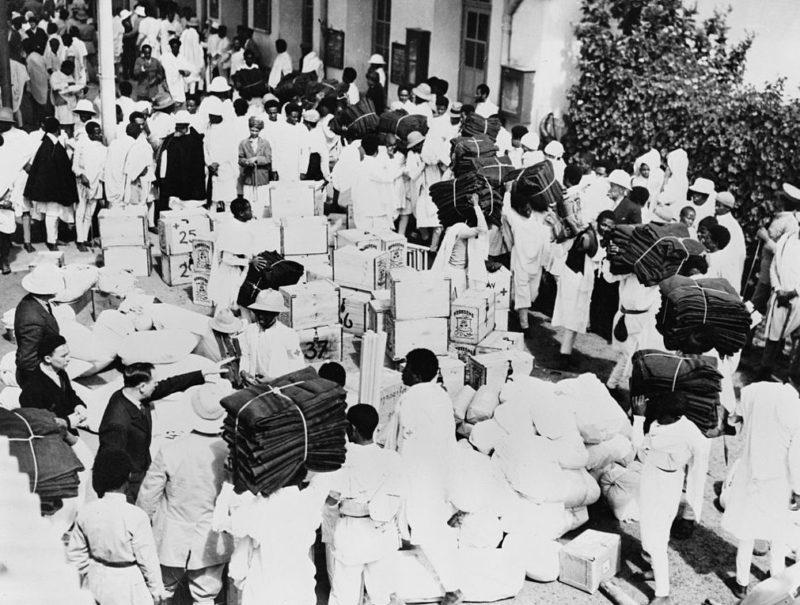 Сбор гуманитарной помощи для фронта в Аддис-Абебе. 1936 г.