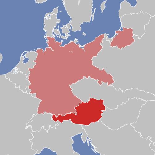 Территория Австрии и Германии на 12 марта 1938 г.