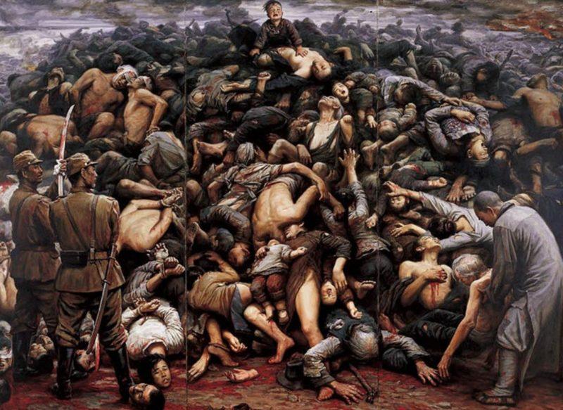 «Нанкинская резня» - художник Ли Цзыцзянь.
