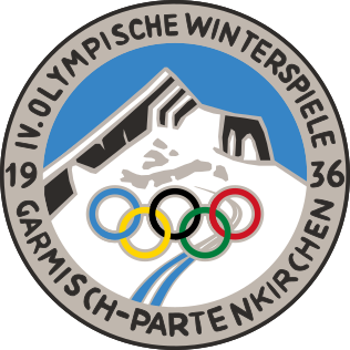 Логотип IV зимних Олимпийских игр 1936 года.