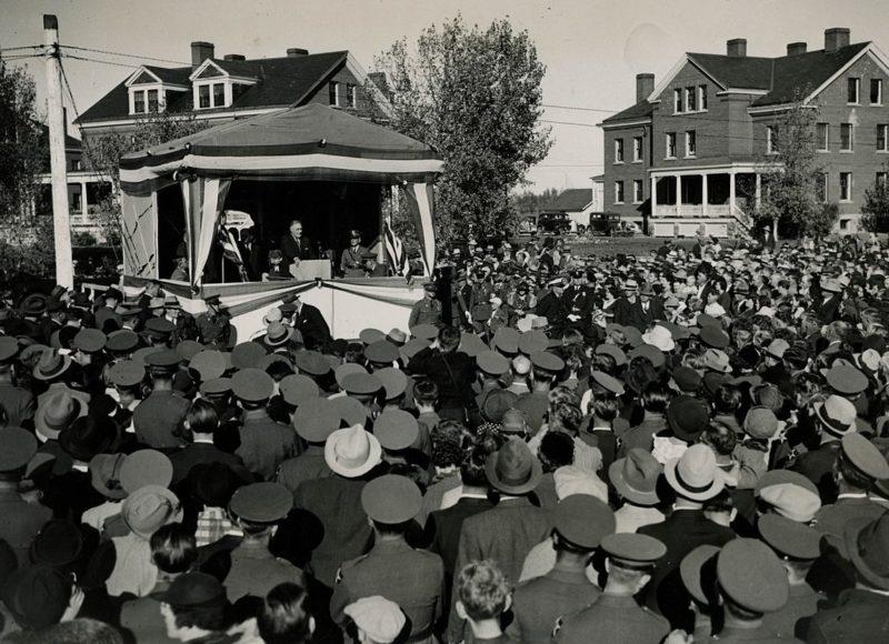 Одно из выступлений Рузвельта. 1936 г.