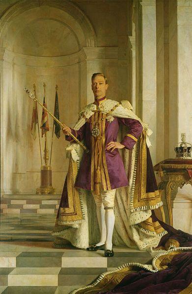 Портрет Георг VI в коронационном одеянии на картине Джеральда Келли.