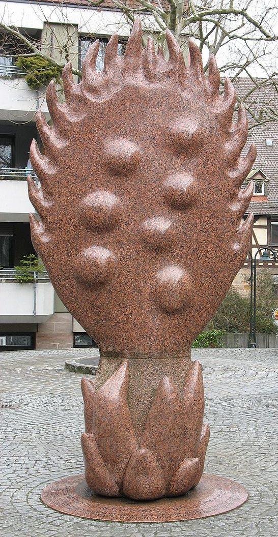 Гелеицгассе в Фюрте. Памятник синагоге, разрушенной во время ноябрьского погрома 1938 года.