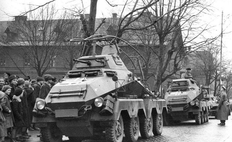 Колонна немецких войск в Чехословакии. 15 марта 1939 г.