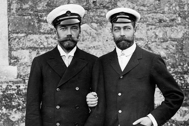 Двоюродные братья Георг V и Николай II.
