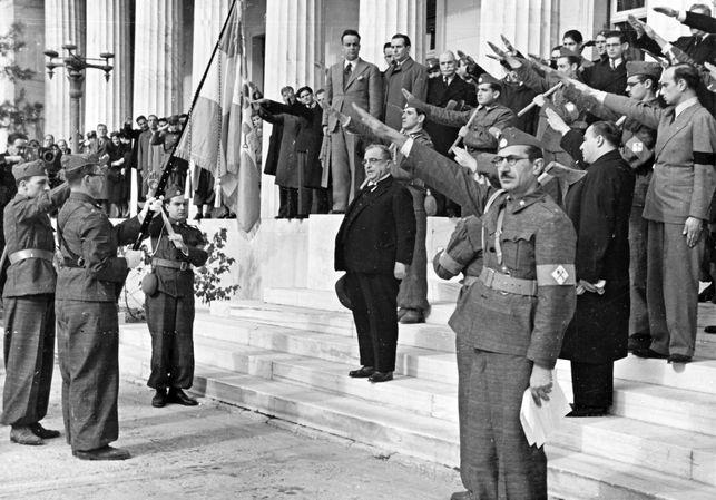Метаксас среди военных. 1940 г.