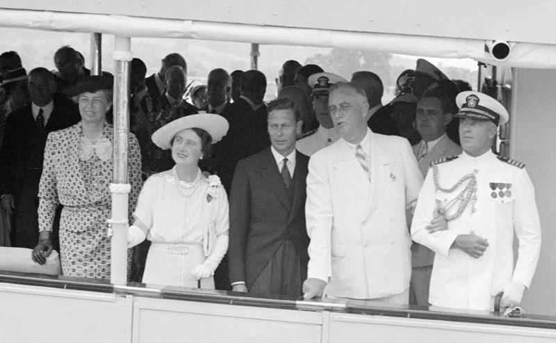 Рузвельт с королем и королевой Великобритании. 9 июня 1939 г.