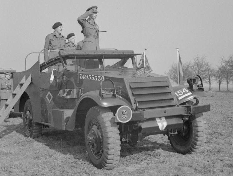 Король на «экскурсии» в 1-й воздушно-десантной дивизию Март 1944 г.