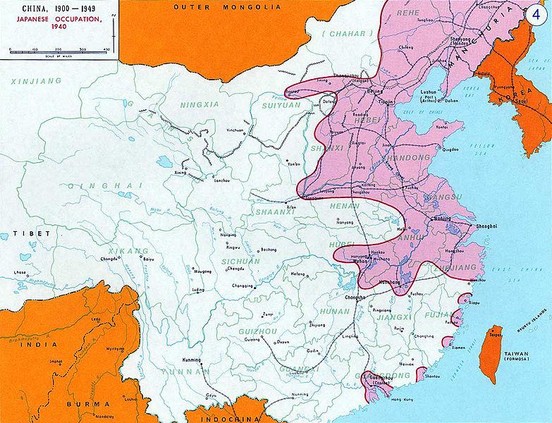 Японская оккупация Китая в 1940 г.