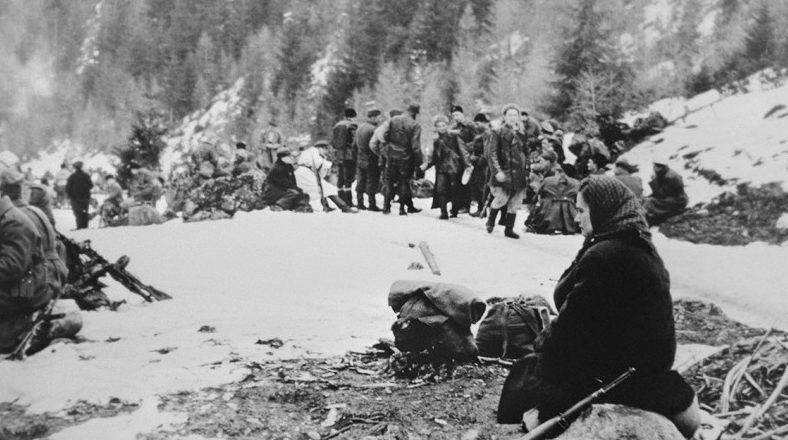 Словацкие партизаны. Зима 1945 г.
