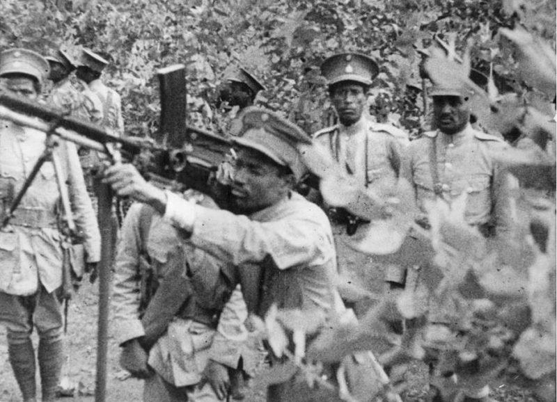 Эфиопская пехота. 1935 г.