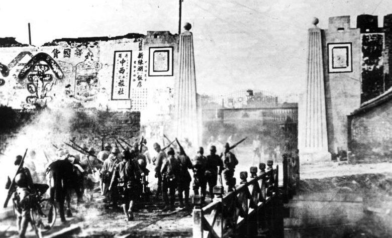 Японские войска в окрестностях Даньяна. Декабрь 1937 г.