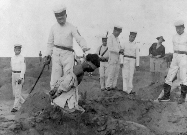 Казнь пленных китайцев японцами.