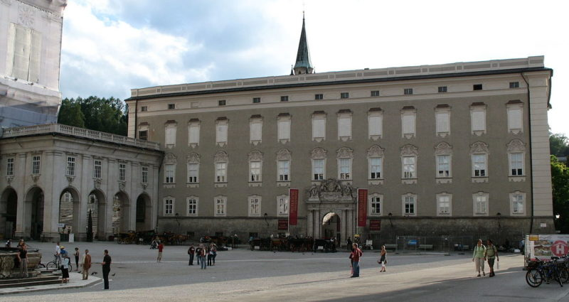 Дворец «Salzburg Residenz», в котором хранились и «испарились» картины венгерских евреев.