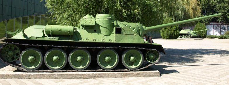 Самоходная артиллерийская установка СУ-100.