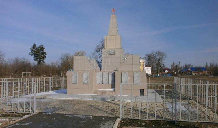 с. Архиповское Белореченского р-на. Мемориал на площади Славы, установлен на братской могиле, в которой похоронено 19 красноармейцев и партизан А.Н. Филиппов.