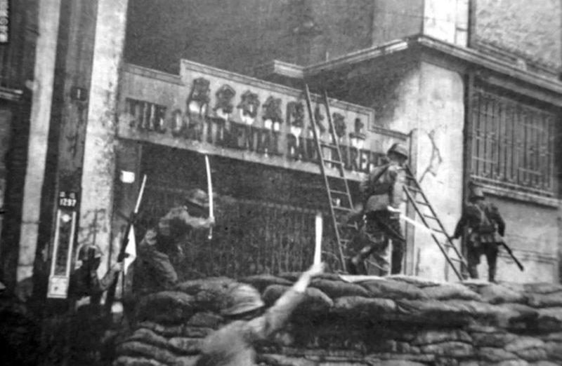 Штурм города японскими войсками.