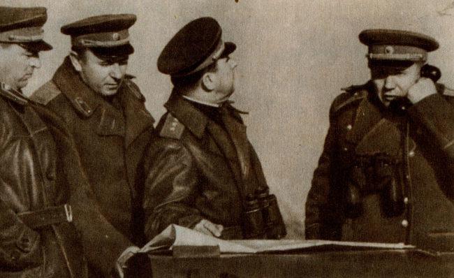 Командующий 2-м Прибалтийским фронтом А.И. Еременко. 1944 г.