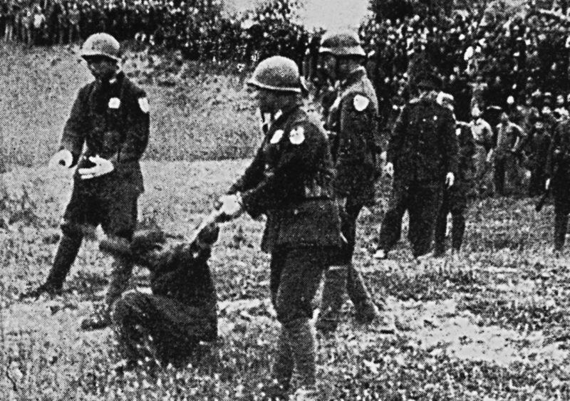 Казнь японских военных преступников.