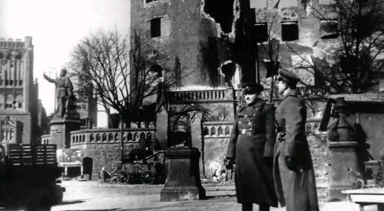 Галицкий в Кенигсберге после штурма. Май 1945 г.