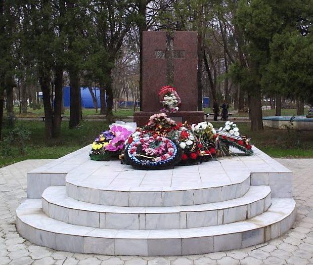 ст-ца. Северская. Памятник погибшим советским воинам.