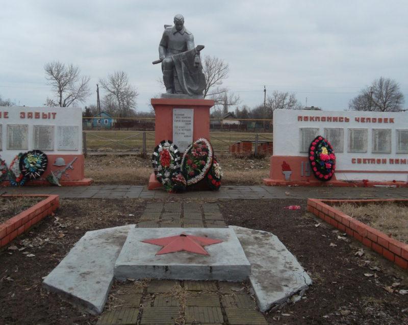ст-ца. Гривенская Калининского р-на ул. Памятник землякам, установленный по улице Советской 20.