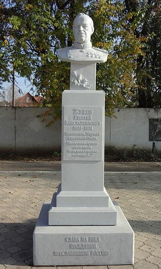 г. Краснодар. Бюст Г.К. Жукова, установленный в 2012 году на улице Северной 564.