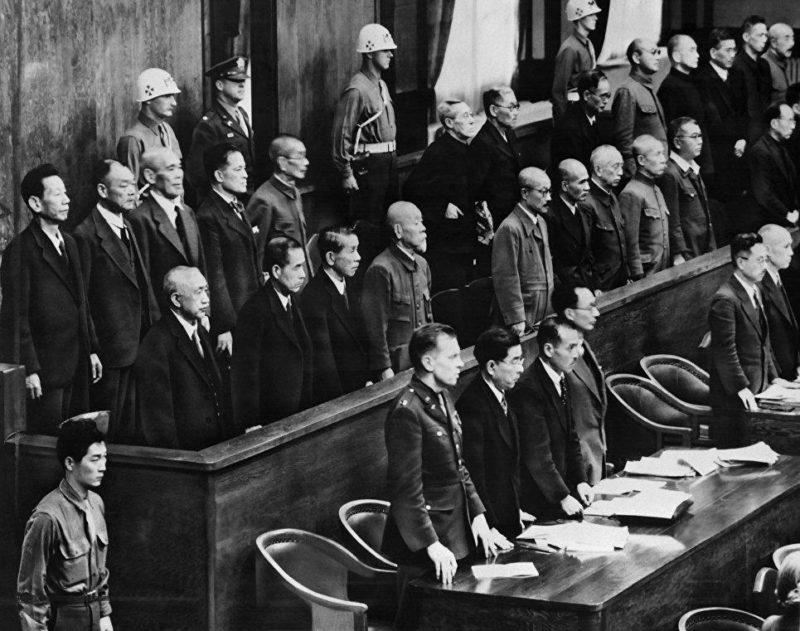 Заседание Международного военного трибунал для Дальнего Востока. Токио.